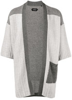 Curieux - patchwork knitted kimono - men - Cashmere - M