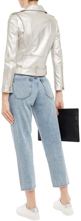 Thumbnail for your product : Current/Elliott Cropped High-rise Straight-leg Jeans