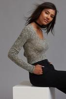 Dynamite V-neck Bodycon Sweater