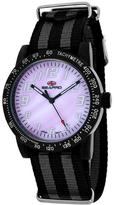 Seapro SP5211NBK Women's Bold Black & Gray Nylon Watch