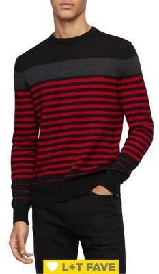 Calvin Klein Striped Wool-Blend Sweater