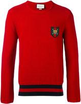 Gucci crest logo jumper - men - Cotton - M