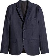 H&M Cotton Blazer - Dark blue - Men