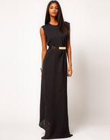 Alice Belted Column Maxi Dress