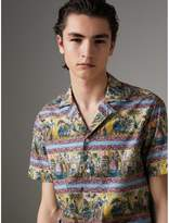 Burberry Short-sleeve Figurative Print Shirt