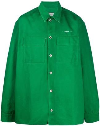 Off-White Arrows-print oversized shirt jacket
