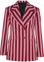 ALEXACHUNG - Striped Crepe Blazer - Pink