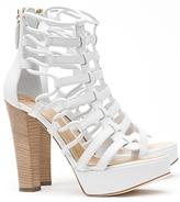 Gladiator Platform Sandals: White