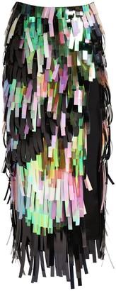 ATTICO Sequined Pencil Midi Skirt W/ Side Slit