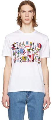 BOSS White Jeremyville Edition Graphic T-Shirt