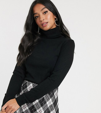 Brave Soul Petite colombia roll neck sweater