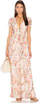 Lucca Couture Deep-V Maxi Dress