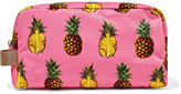 Dolce & Gabbana Canvas-trimmed Printed Shell Cosmetics Case - Pink