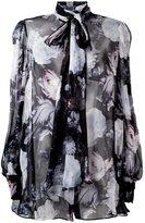 Alexander McQueen floral print blouse - women - Silk - 40