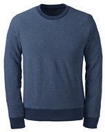 Classic Men's Textured Fleece Crewneck Sweatshirt-Bright Cherry Floral