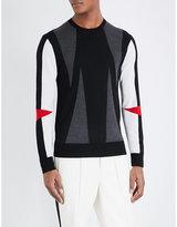 Neil Barrett Modernist Knitted Wool Jumper