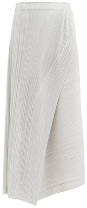 Pleats Please Issey Miyake Folded Technical-pleated Skirt - Light Grey
