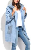 Everest Blue Wool-Blend Peacoat