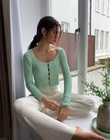 Asos Design DESIGN scoop neck fine knit cardigan