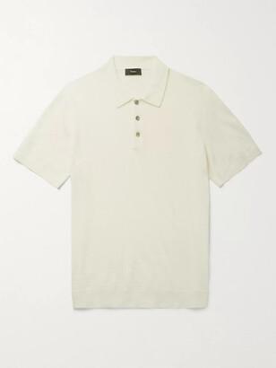 Theory Linen-Blend Polo Shirt