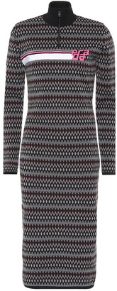 Prada Chevron jacquard knit dress