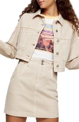 Topshop Crop Denim Jacket
