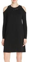 Karen Kane Sequined Cold Shoulder Dress - 100% Exclusive