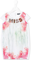Miss Blumarine MISS coral print dress - kids - Cotton/Polyester/Spandex/Elastane - 6 yrs