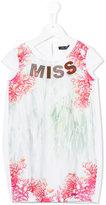 Miss Blumarine Miss coral print dress