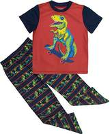 Cherokee Little Boys' Dinosaur Pajamas Shirt and Pants Set