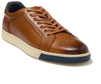 Robert Graham Gettys Brogued Leather Sneaker