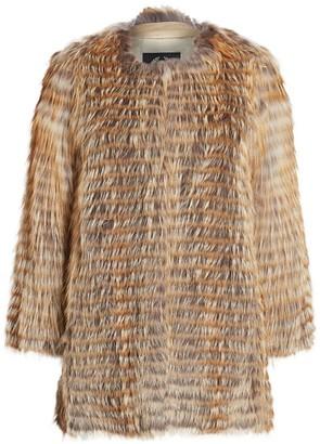 The Fur Salon Norman Ambrose For Collarless Fox Fur Coat