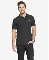Express modern fit small lion pique polo - gray heather