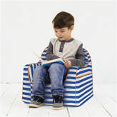 P'kolino Little Reader Stripes Personalized Kids Foam Chair with Storage Compartment