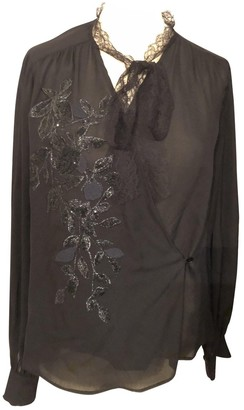 Elie Saab Black Silk Top for Women
