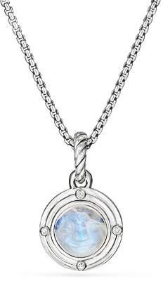 David Yurman Moon Amulet in Rainbow Moonstone