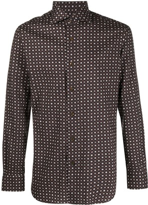 Barba Long-Sleeve Printed Shirt