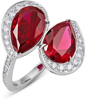 Swarovski x Penelope Cruz White Gold, Diamond and Ruby Lola Spiral Ring