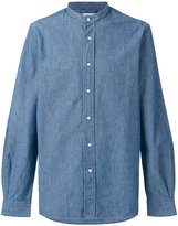 Aspesi banded collar denim shirt