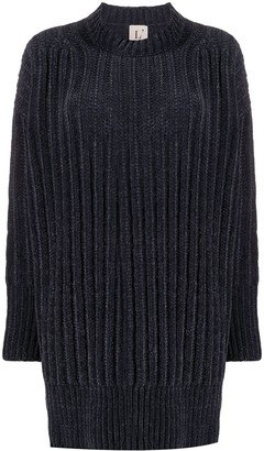 L'Autre Chose Ribbed-Knit Jumper Dress