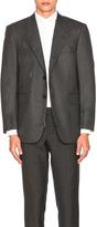 Thom Browne Wool Flannel Distressed Jacket