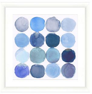 STUDY Blue Watercolor Print I