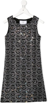 Philipp Plein Logo Short Dress