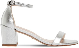 Stuart Weitzman 60mm Lame Faux Leather Sandals