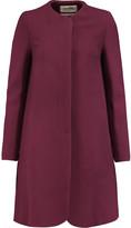 Goat Redgrave wool-crepe coat