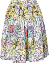Moschino paint by number print skirt - women - Silk/Cotton/Acetate/Viscose - 42