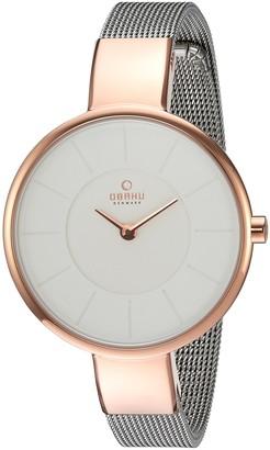 Obaku Women's Quartz Stainless Steel Dress Watch