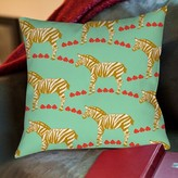 """Zebra Printed Throw Pillow Manual Woodworkers & Weavers Size: 18"""" H x 18"""" W x 5"""" D, Color: Mint"""