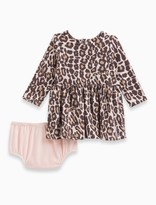 Splendid Baby Girl Animal Print Loose Knit Dress