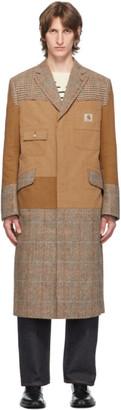 Junya Watanabe Brown Carhartt Edition Patchwork Coat